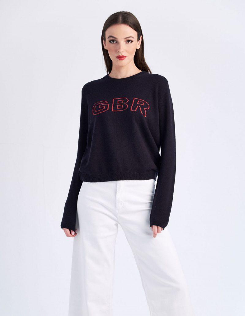 malin darlin GBR designer cashmere jumper.