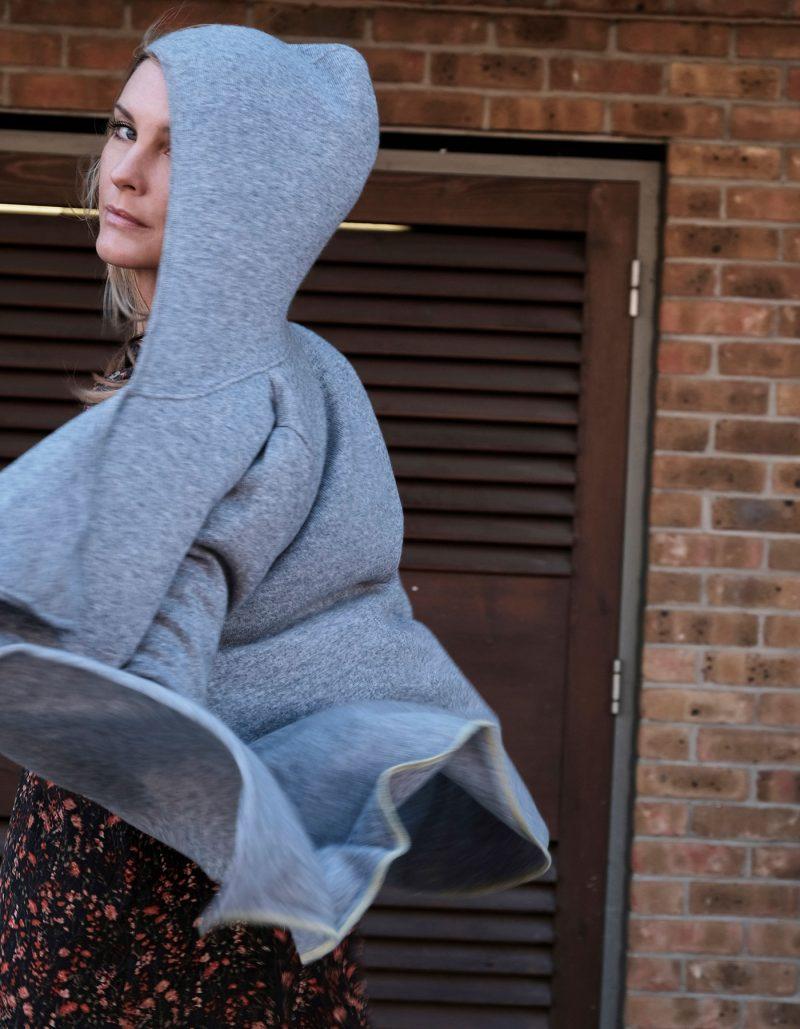 Tie Hooded Cashmere Jumper by Malin Darlin