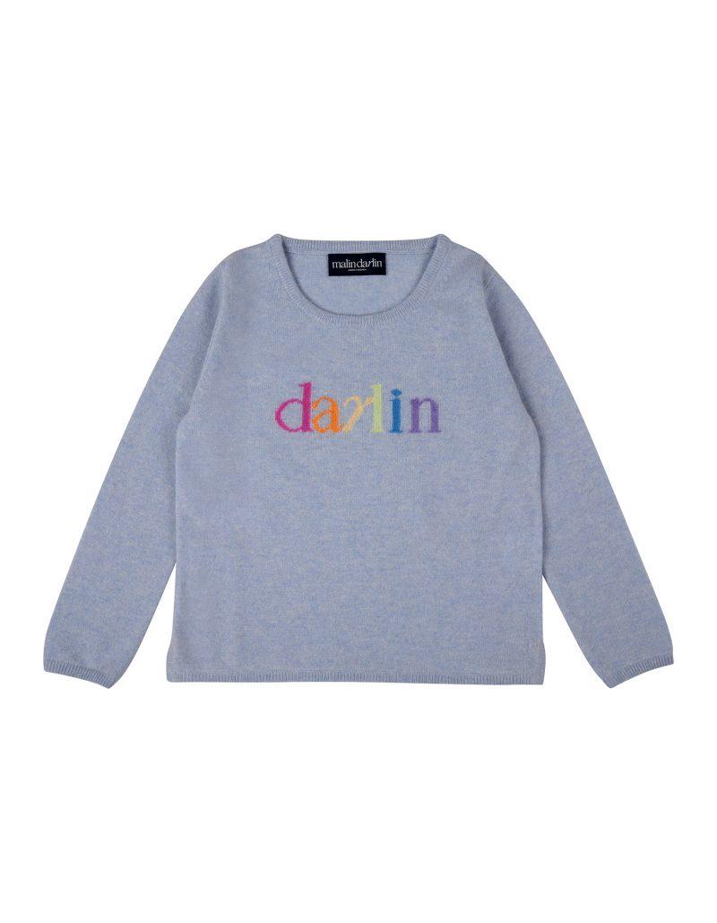 Crew neck girls designer cashmere jumpers.