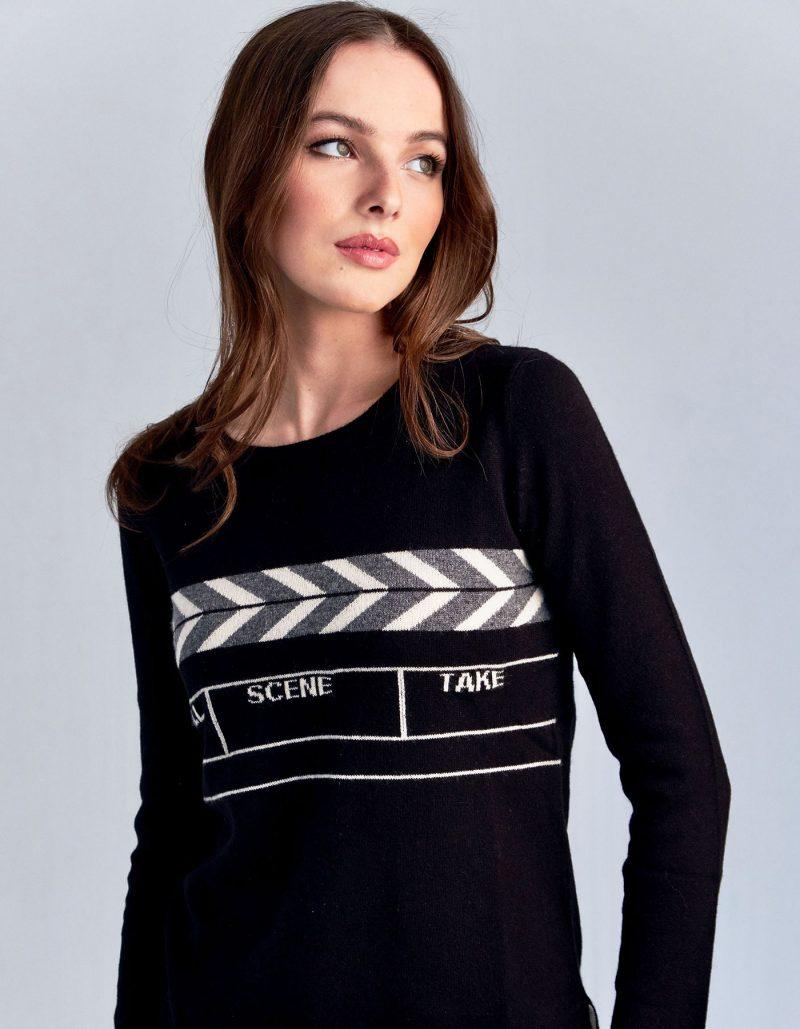 malin darlin Scene black cashmere jumpers.