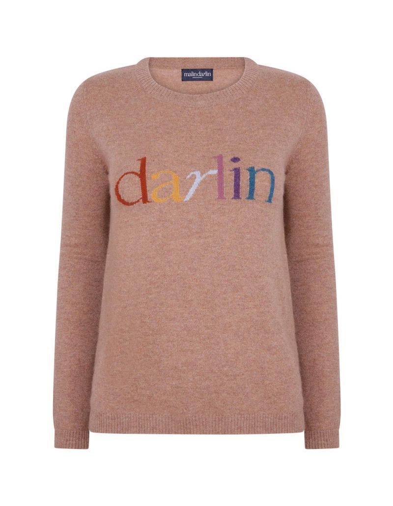 Signature malin Darlin beige cashmere jumpers.