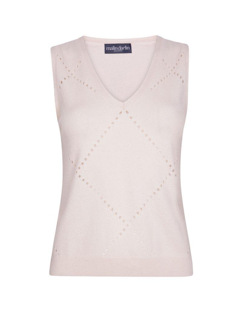 Katie cashmere vest tops at malin darlin UK.