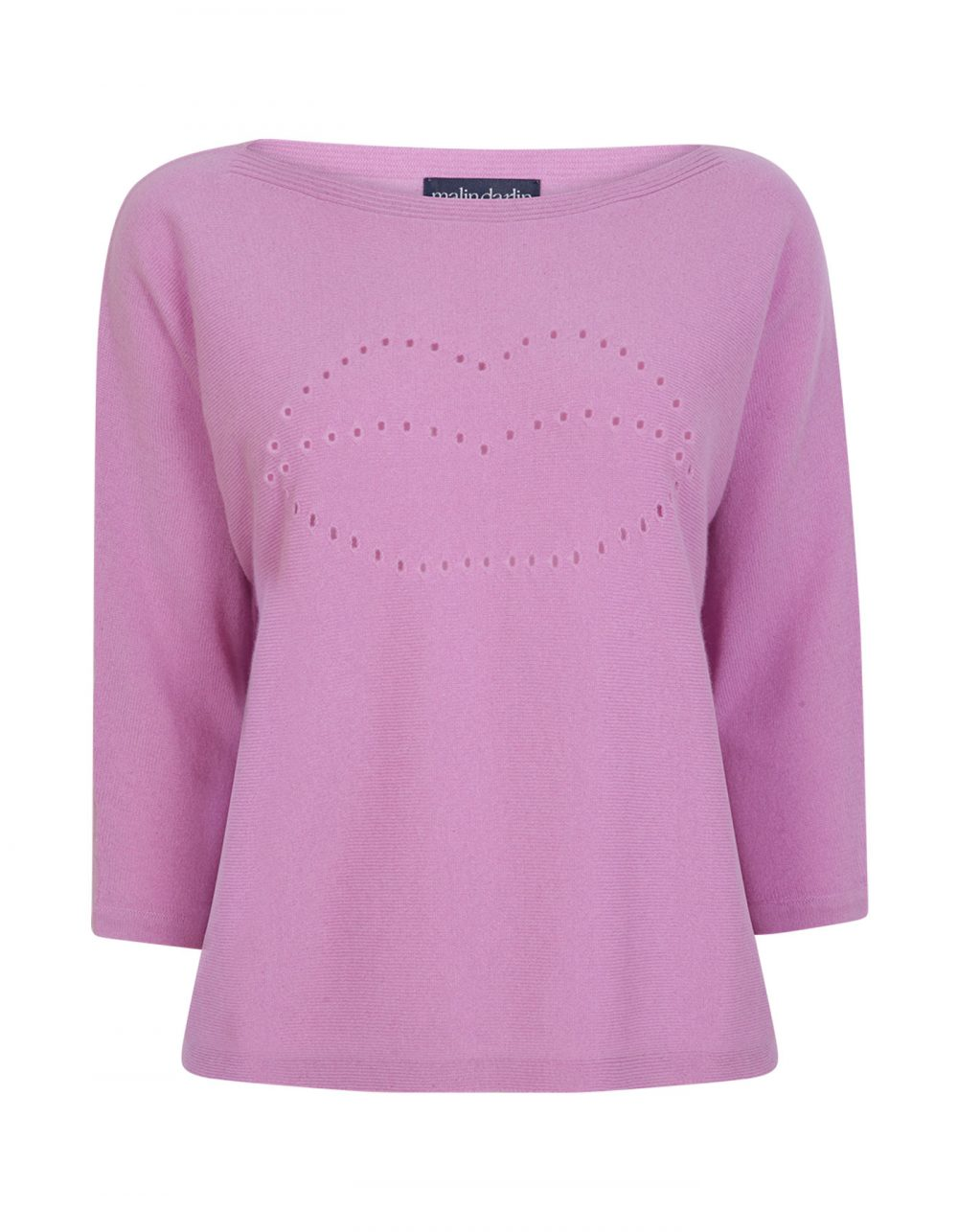 Lips pink cashmere jumpers at malin darlin.