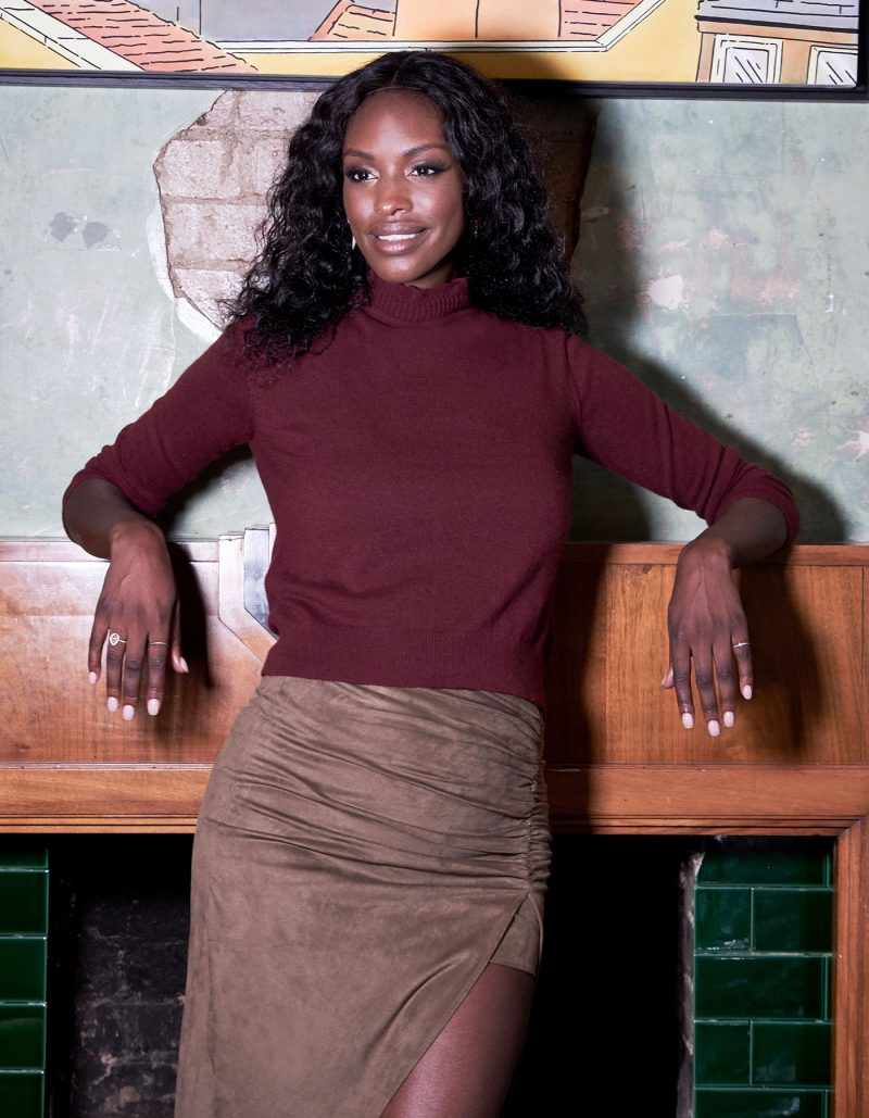 Cashmere lace jumper from the womens cashmere knitwear range at malin darlin.