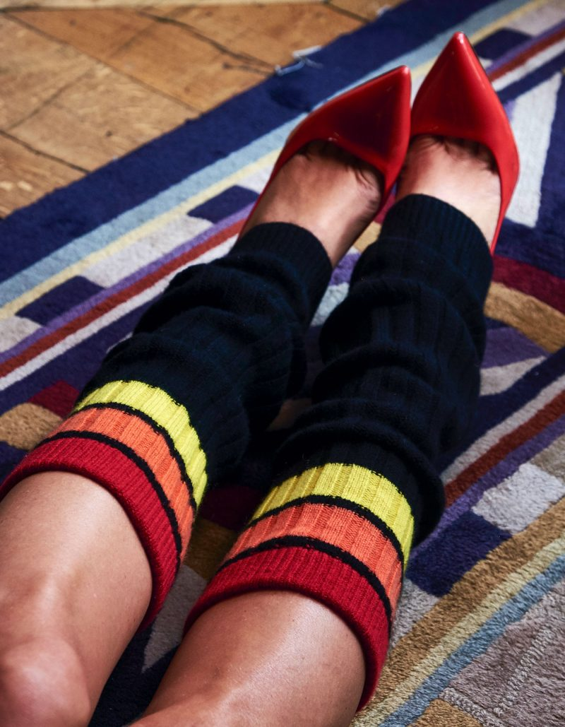 Cashmere legwarmers from the women's designer cashmere collection at malin darlin.