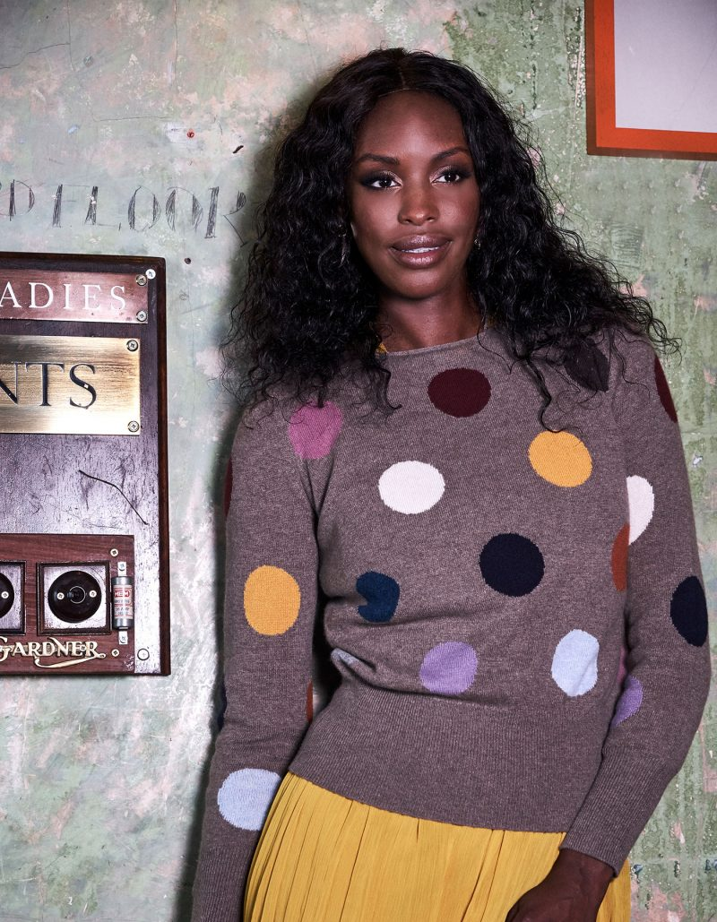 Cashmere Spot jumper, part of the womens cashmere knitwear collection at malin darlin.